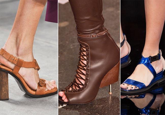 Кожаные ботинки и босоножки