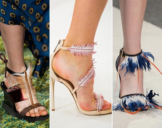 Обувь с перьями