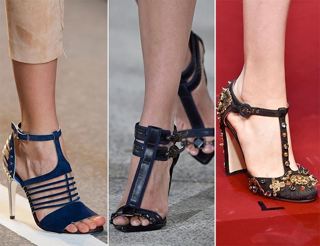 Туфли с Т-образной перемычкой