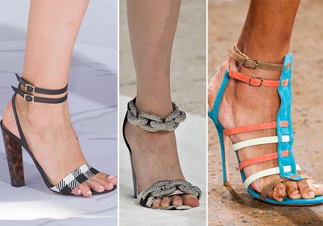 сандалии лето 2015 модные стильные женские красивые