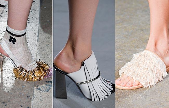 Обувь, украшенная бахромой