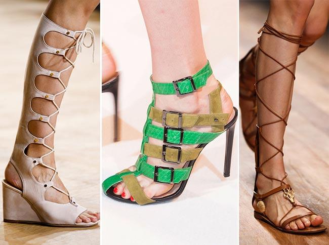 гладиаторская обувь сандалии стильные