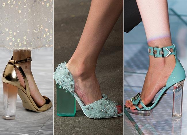 туфли нежно голубые лето модные каблук прозрачный