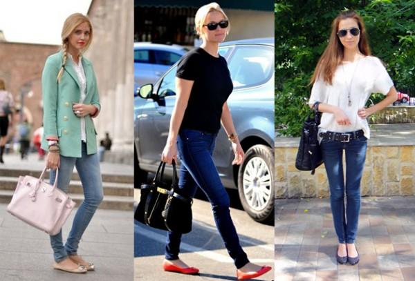 Балетки+узкие брюки