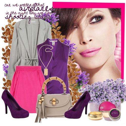 Фиолетовые туфли: с чем носить