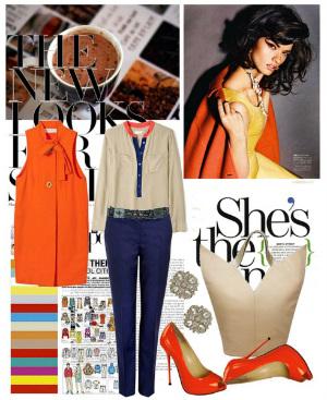 Оранжевые туфли 2