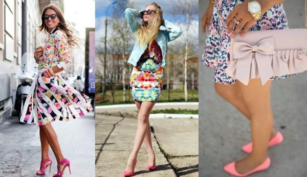 Розовые туфли: сочетания