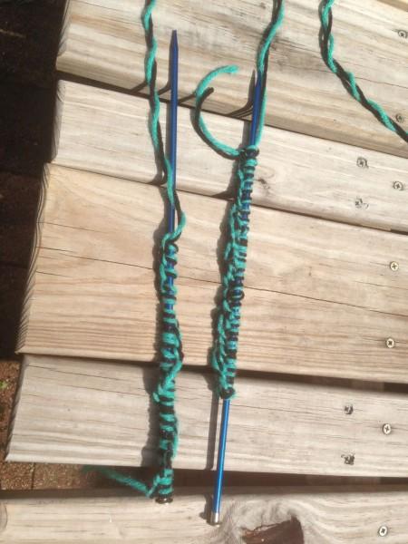 Вязание тапочка
