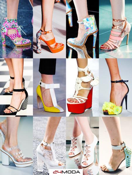 Модная обувь сезона весна-лето 2015 на каблуках