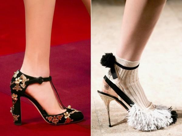 Модная обувь Dolce & Gabbana и Rochas 2015