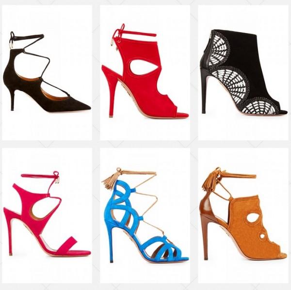 Коллекция модной женской обуви на сезон весна-лето 2015 от марки Aquazzur
