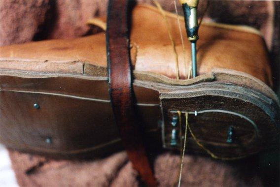 Фиксация обуви в процессе изготовления