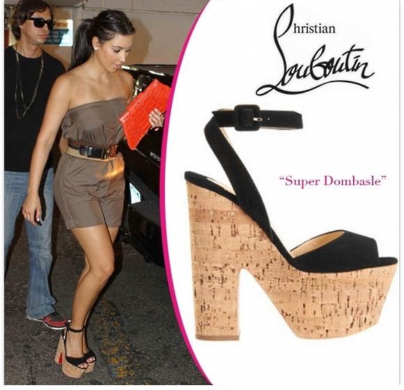 Ким Кардашьян в обуви от Christian Louboutin