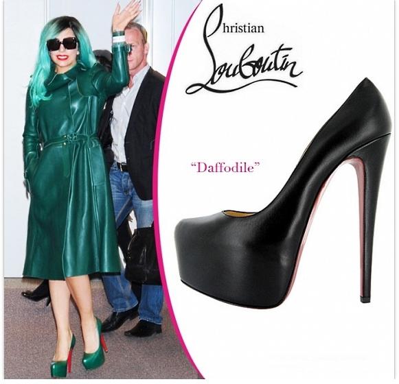 Леди Гага в обуви от Christian Louboutin