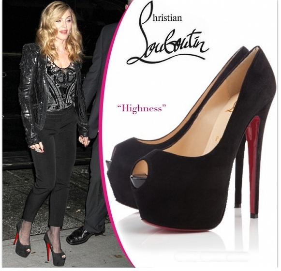 Мадонна в обуви от Christian Louboutin