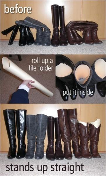 Самодельные держатели для сапог из бумаги