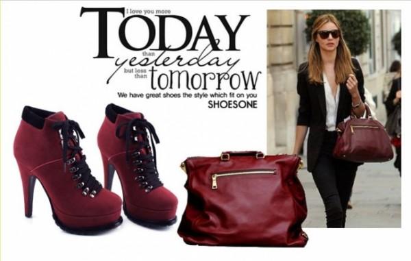Бордовые туфли: с чем носить?