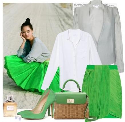 Зеленые туфли: сочетания