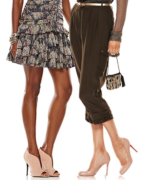 Телесные туфли: с чем носить