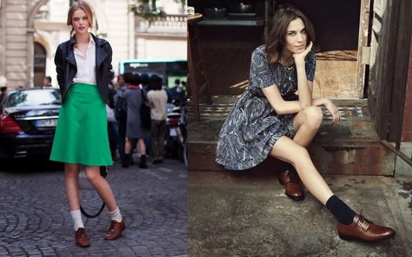 Коричневые туфли: с чем носить