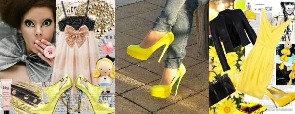 Желтые туфли: с чем носить?