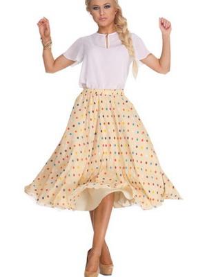 туфли лодочки юбка в горошек стиль мода советы