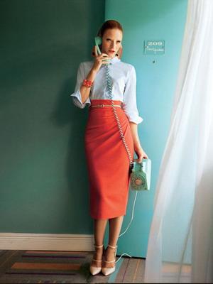 444 туфли лодочки юбка длинная рубашка деловой стиль офисный
