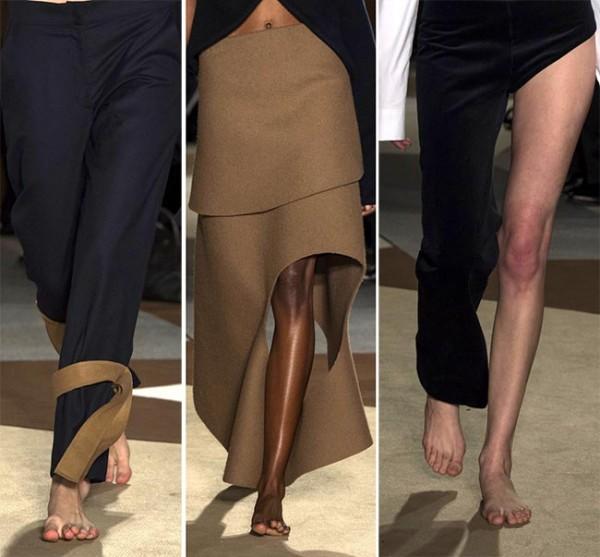 женские ножки на подиуме
