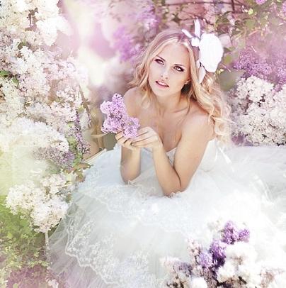 невеста красивая сирень цветы