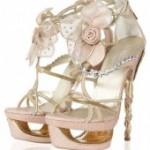 Свадебная обувь для невесты на фото (цвета слоновой кости)
