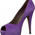 Как носить фиолетовые туфли?