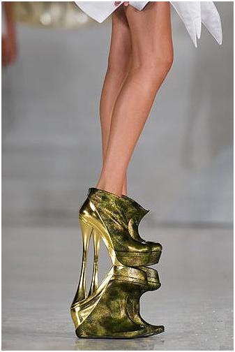 Туфли на двойной платформе