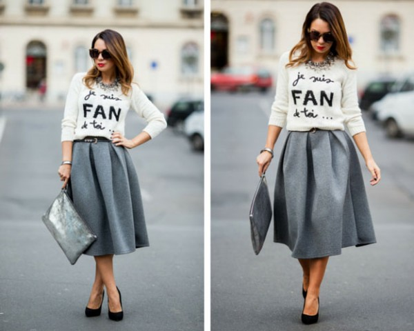 Grey-Midi-Skirt-and-Sweater-Outfit