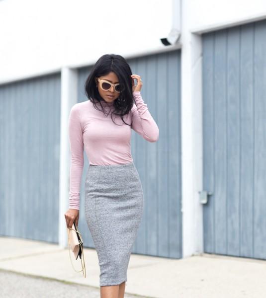 Обувь светлее юбки