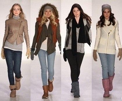 угги показ мода тенденции