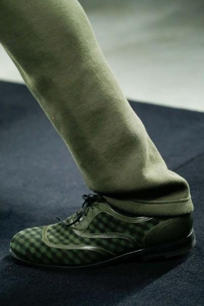 ботинок мужской зеленый-принт