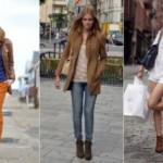 С чем носить коричневые ботильоны