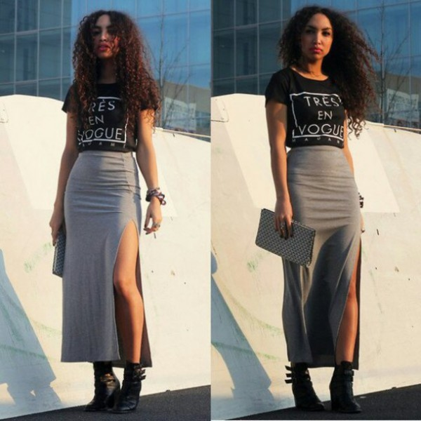 h2x4nw-l-610x610-black+crop-grey+skirt-long+skirt+cut-long+grey+skirt-boots-chunky-high-heeled-ankle+boot-chelsea+boot