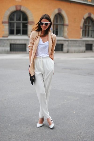 stockholm-zina-fashionvibe-white-shoes-wedges-sweden-white-pants-high-waisted-silk-blazer