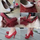 Как украсить старые туфли