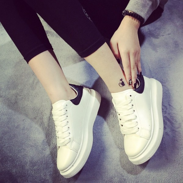 2015-New-European-spring-and-summer-white-casual-shoes-heavy-bottomed-platform-shoes-women-single-shoes