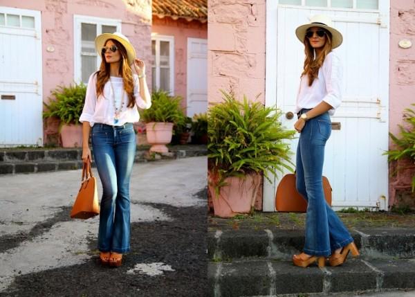 Расклешенные джинсы и обувь под них