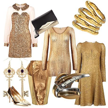 Наряды золотого цвета