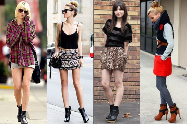 Ankle-Boots-with-Mini-Skirt