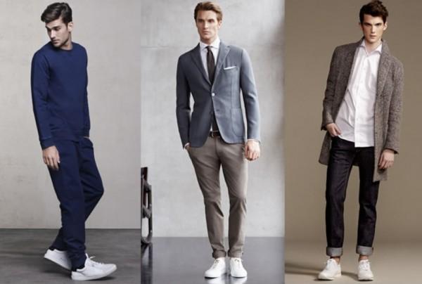Белые низкие кожаные кроссовки
