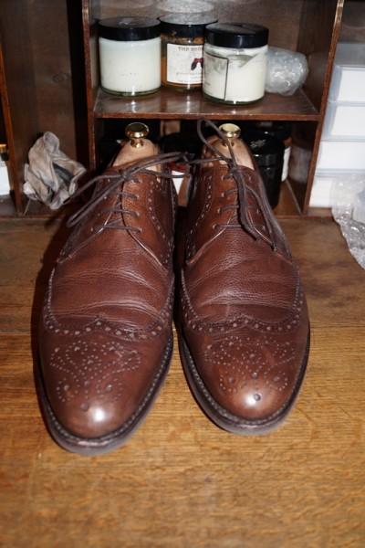Ботинки до полировки