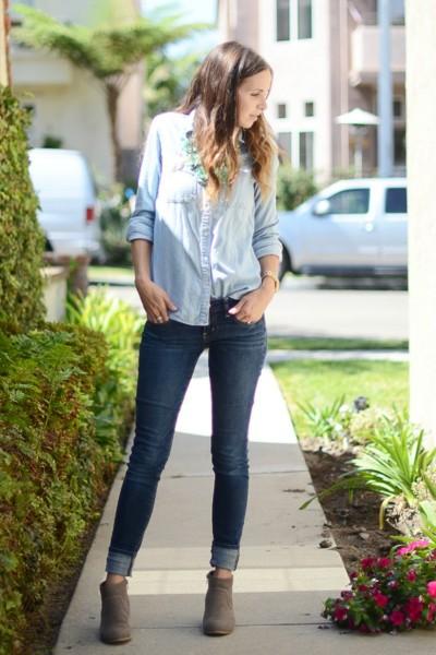 Подгибка джинсов в виде манжеты
