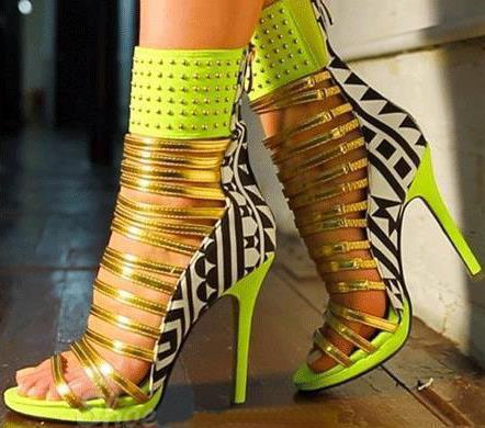 неоновые каблуки