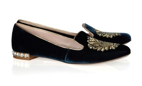 Туфли из замши и сетки Бархатные слиперы 2016 года с вышитым логотипом