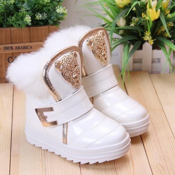 Мех-кролика-дети-сапоги-белый-утолщение-хлопка-мягкой-обуви-обувь-для-девочек-зимние-теплые-сапоги-размер